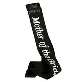 Diamante Mother of The Bride Black Satin Sash