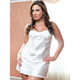 iCollection Plus Size Sensual Satin Nightie and G-String Set