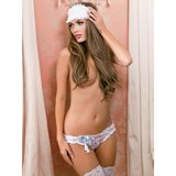 iCollection Lace Knickers and Blindfold Bridal Lingerie Set