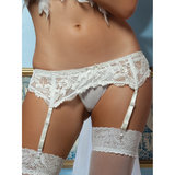Seven Til Midnight Adjustable Lace Garter Belt