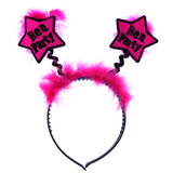 Star Hen Party Pink Fluffy Boppers
