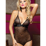 Seven Til Midnight Secret Affair See Through Embroidered Teddy
