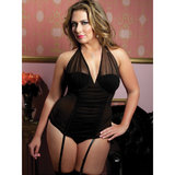 Seven Til Midnight Plus Size Perfectly Glamourous Mesh Bustier