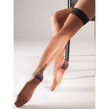Cottelli Cuban Heel Back Seam Hold Up Stockings