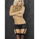 Fantasy Plus Size Lace Short Garter Belt