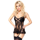Soft Line Elodie Longline Basque and G-String Set