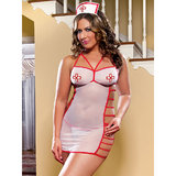 iCollection Plus Size See Through Sexy Nurse Costume Set