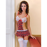 iCollection School Girl Costume Chemise Set