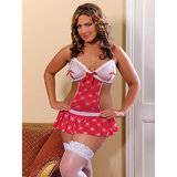 iCollection Plus Size School Girl Costume Chemise Set