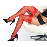 Coquette Darque Fishnet Thigh High Hold Up Stockings