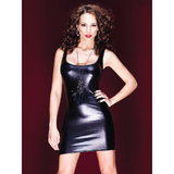 Coquette Darque Wet Look Tank Top Dress