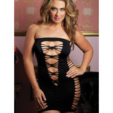Seven Til Midnight Plus Size Tube Dress with Cut Out Sides