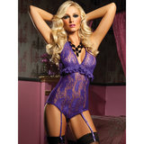 Seven Til Midnight Venus Paisley Lace Teddy