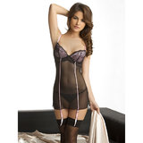 Oh La La Cheri See Through Babydoll with Garters
