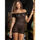 Rene Rofe See Through Crocheted Mini Dress