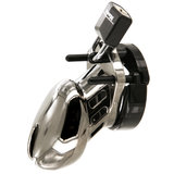 CB-6000 Short Male Chastity Cage with Chrome Finish