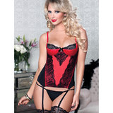 Seven Til Midnight Simply Stunning Basque and G-String Set