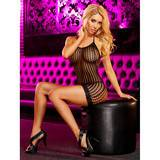 Lapdance Halter Neck Crochet Mini Dress