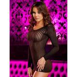 Lapdance Centre Stage Long Sleeve Crochet Mini Dress