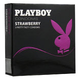 Playboy Strawberry Condoms (3 Pack)