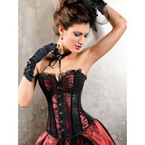Sweet Streak Burlesque Lace Bustier and Knicker Set