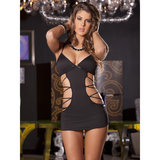 Rene Rofe Cut Out Criss Cross Chemise and G-String Set