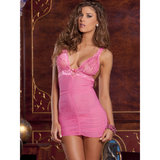 Rene Rofe See Through Lace Chemise Set