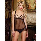 Dreamgirl See Through Camisole Top with Sequin Detail