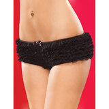 Coquette Crotchless Knickers with Ruffles
