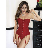 iCollection Brocade Corset and G-String Set