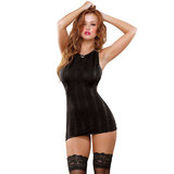 Exposed Midnight Bound Mini Dress and G-String Set