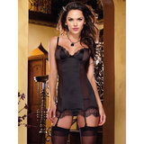 Dreamgirl Silken Soiree Satin Babydoll and G-String