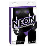 Neon Vibrating Crotchless Knickers and Nipple Pasties Set