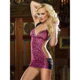 Dreamgirl Leopard Print Mini Dress with Banded Skirt
