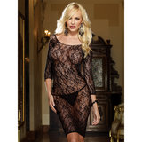 Dreamgirl Red Diamond Dark Desires Floral Lace Long Sleeved Dress