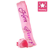Flashing Hen Party Pink Satin Sash