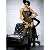 Obsessive Heart Pattern Sexy Bodystocking
