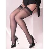 Gabriella Anika Plus Size Diamond Patterned Top Stockings