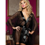 Seven Til Midnight Secret Affair Sheer Lace Robe