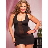 Seven Til Midnight Plus Size Racer Back Dress and G-String Set