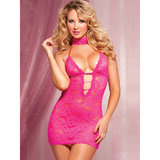 Seven Til Midnight Lace Chemise and Thong Set