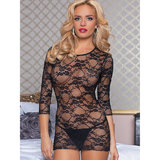 Seven Til Midnight The Lace Embrace Stretch Lace Mini Dress