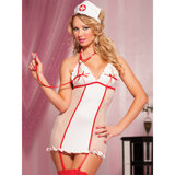 Seven Til Midnight Nurse Knows Best Peekaboo Fishnet Nurse Costume