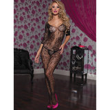 Seven Til Midnight Swirl and Floral Lace Crotchless Bodystocking