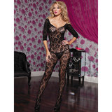 Seven Til Midnight Crotchet Floral Lace Bodystocking