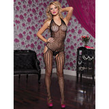 Seven Til Midnight Striped Crotchless Bodystocking