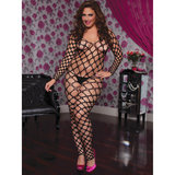 Seven Til Midnight Plus Size Wide Fishnet Bodystocking