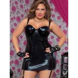 Seven Til Midnight Plus Size Indecent Desires Wet Look Chemise Set