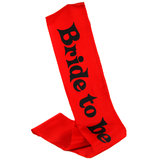 Ladies Night Bride to Be Red Sash