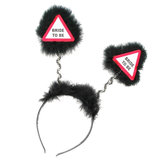 Warning Bride to Be Black Fluffy Boppers